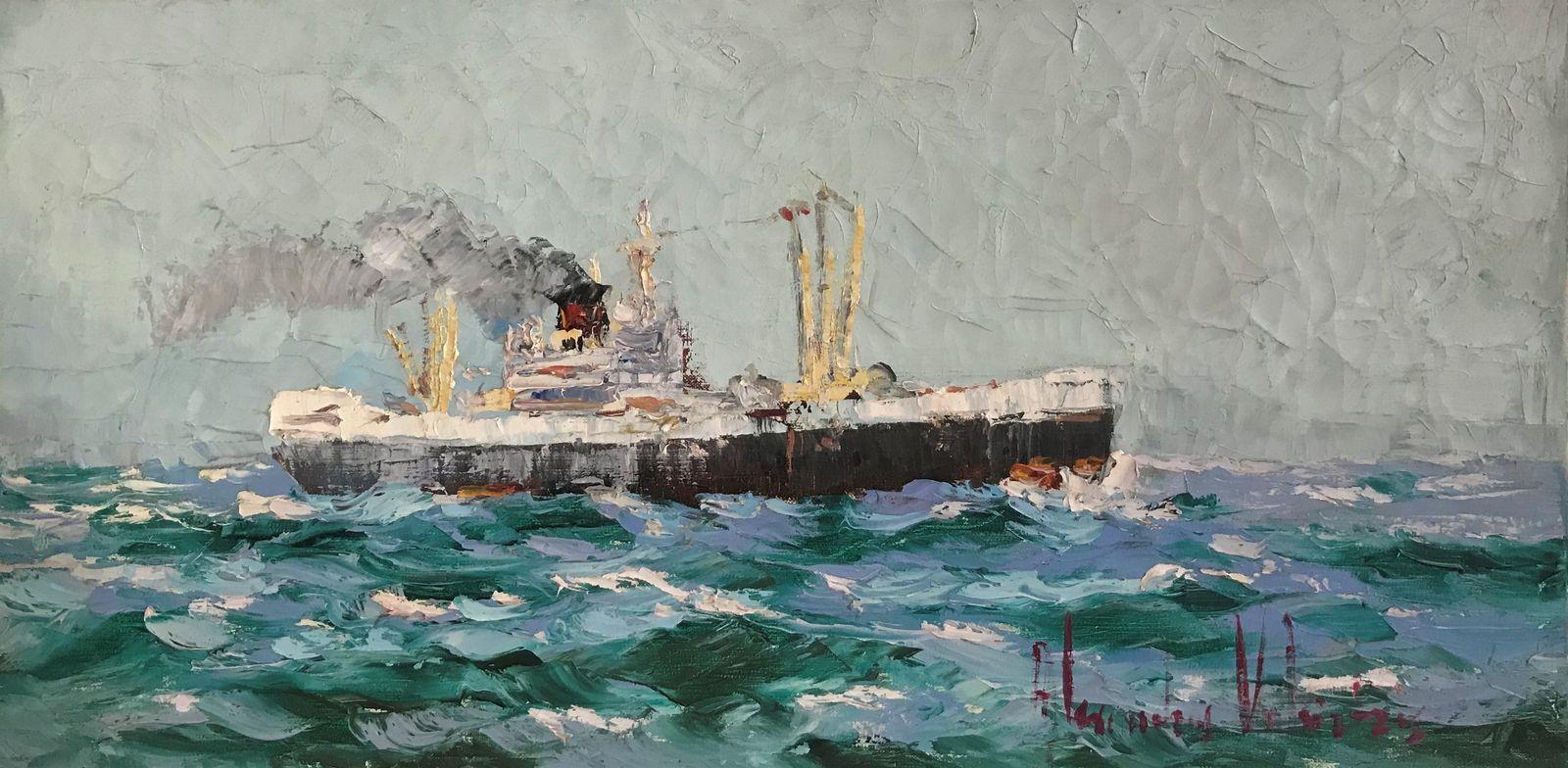 Αλεξανδρος Βακιρτζής 30×60 εκ. Λάδι σε καμβά Alexandros Vakirtzis 30×60 Oils on canvas