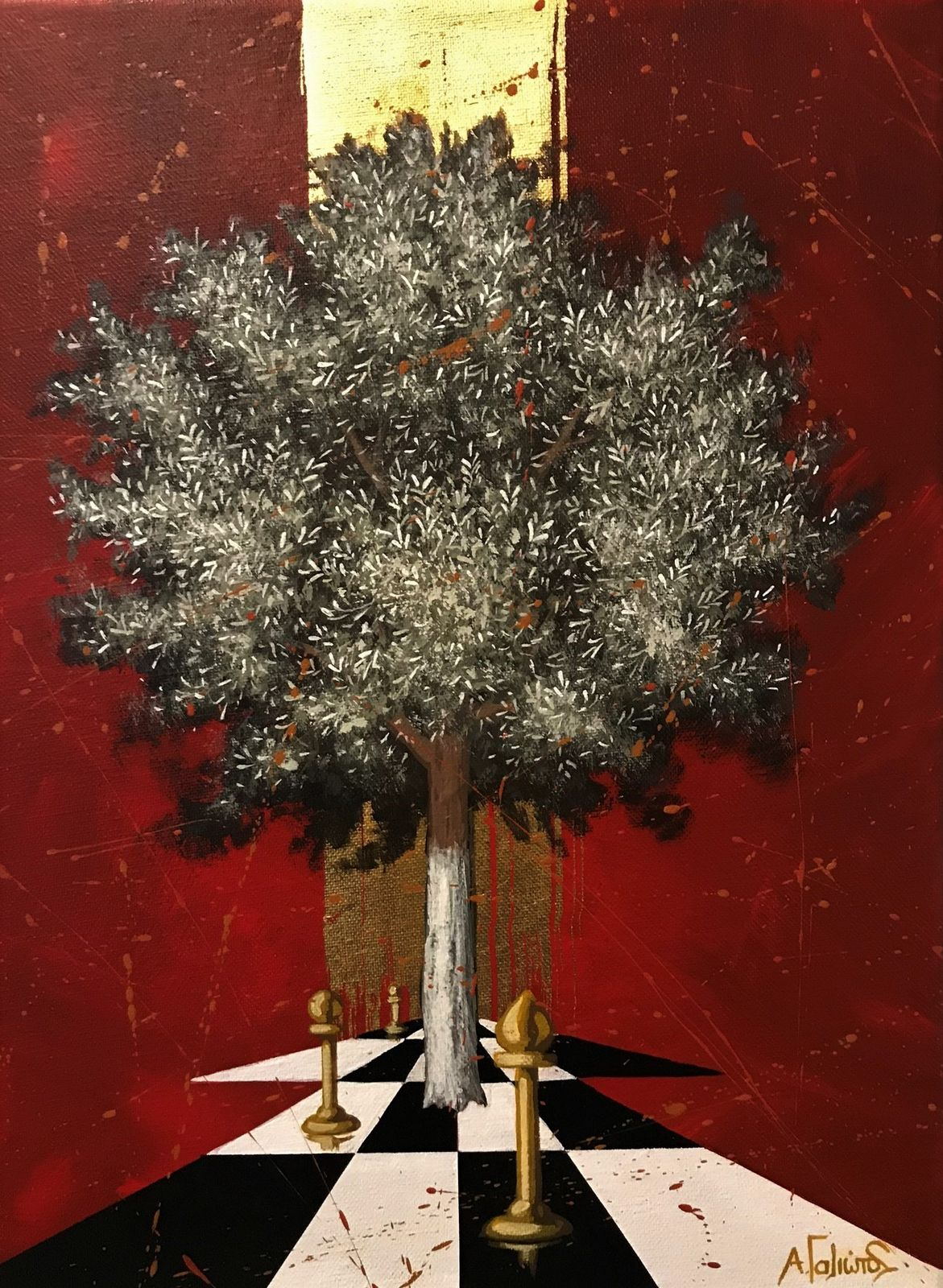 Ανδρέας Γαλιώτος 30×40 εκ. ακρυλικά σε καμβά Andreas Galiotos 30×40 cm Acrylics on canvas