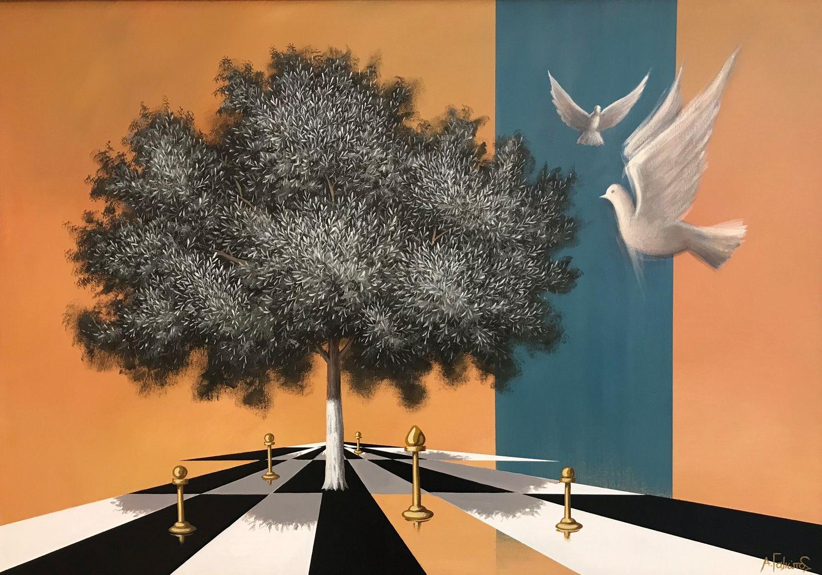 Ανδρέας Γαλιώτος 70×100 εκ. ακρυλικά σε καμβά Andreas Galiotos 70×100 cm Acrylics on canvas