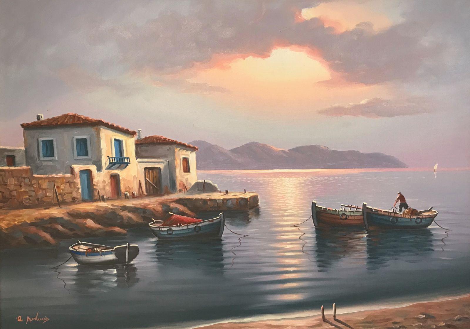 Α. Κρητικός 50×70 εκ. Λάδια σε καμβά A. Kritikos 50×70 cm Oils on canvas