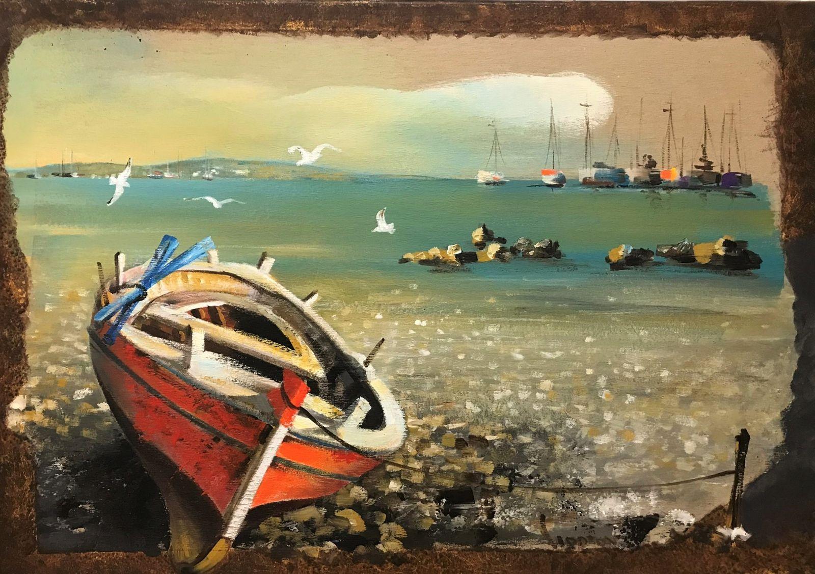 Γεώργου 70×100 Ακρυλικά σε καμβά Georgou 70×100 Acrylics on canvas