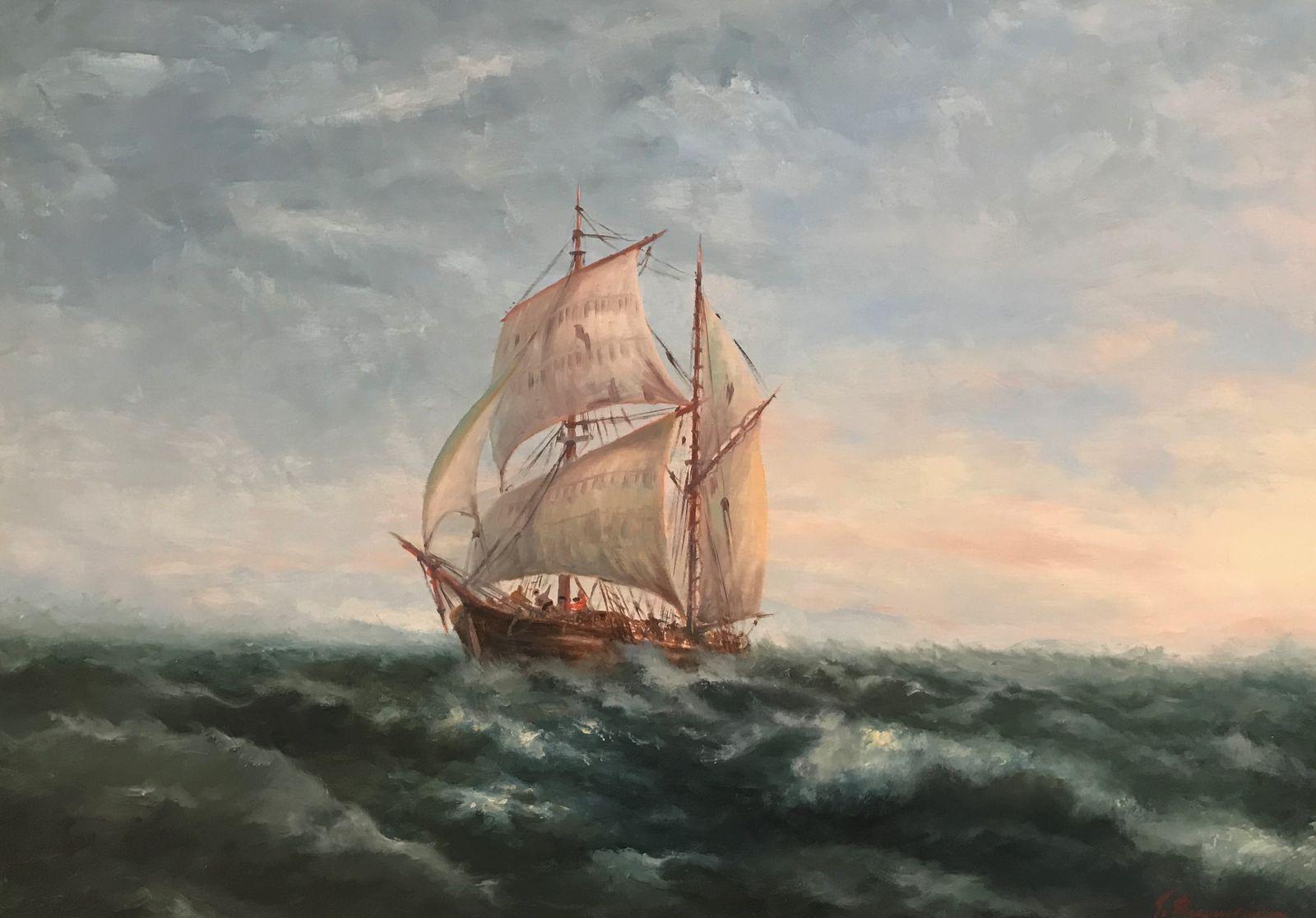Γιώργος Καραγιώργης 50×70 εκ Λάδια σε καμβά George Karagiorgis 50×70 cm Oils on canvas