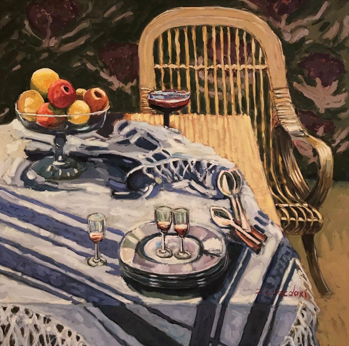 Ζήνα Λιναρδάκη 100×100 εκ. Λάδια σε καμβά Zina Linardaki 100×100 cm Oils on canvas