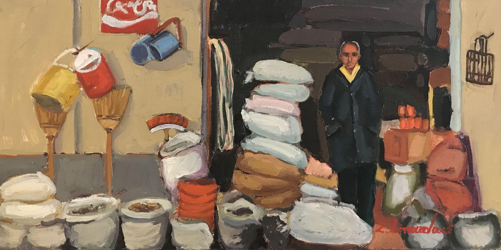 Ζήνα Λιναρδάκη 30×60 εκ. Λάδια σε καμβά Zina Linardaki 30×60 cm Oils on canvas