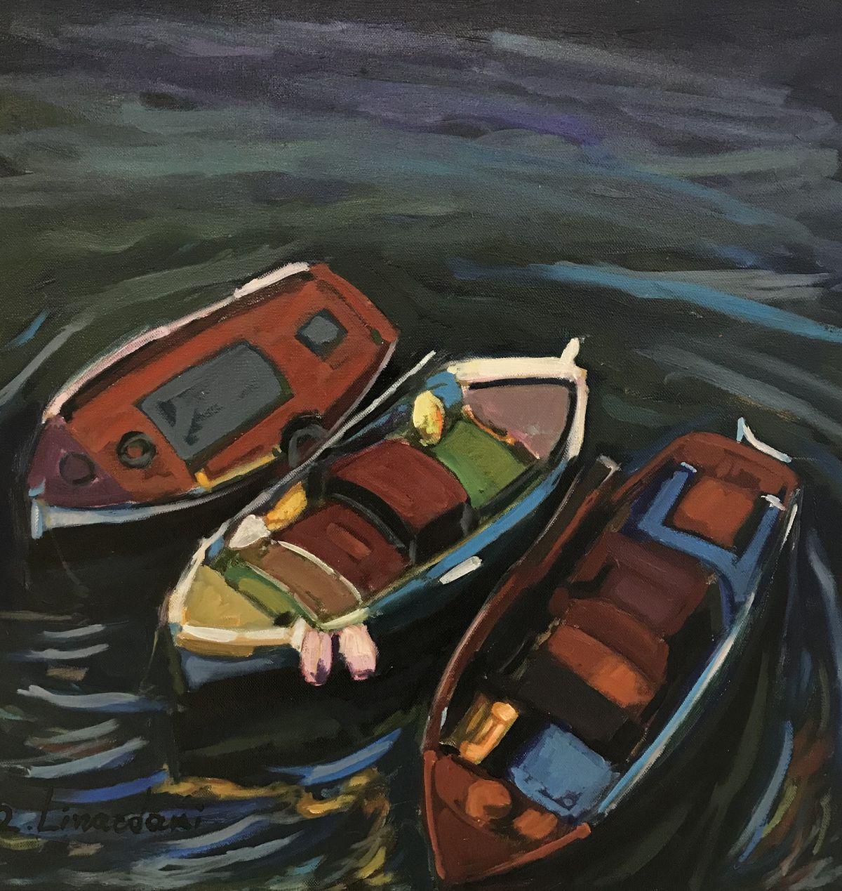 Ζήνα Λιναρδάκη 50×50 εκ. Λάδια σε καμβά Zina Linardaki 50×50 cm Oils on canvas (2)
