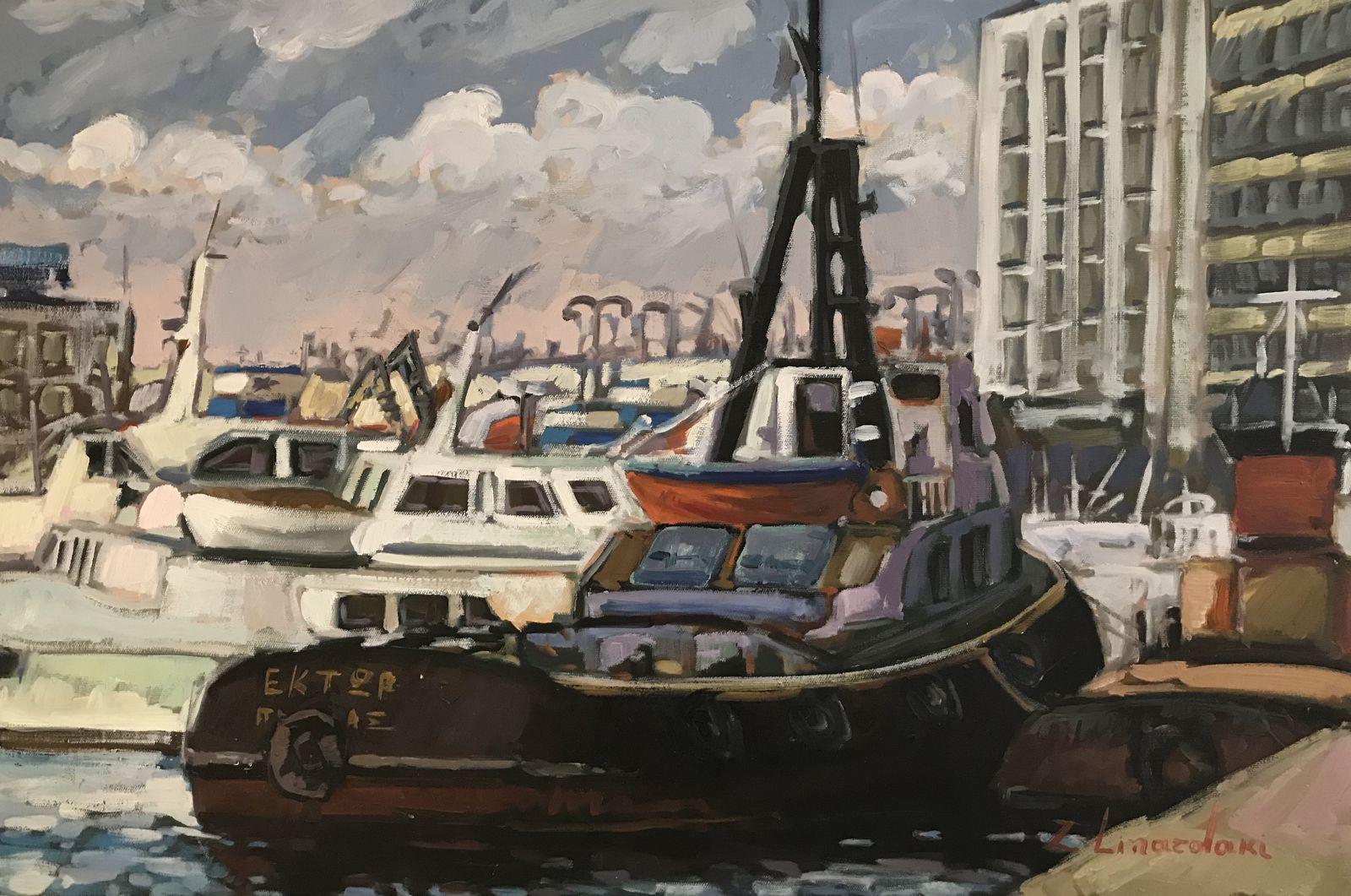 Ζήνα Λιναρδάκη 60×90 εκ. Λάδια σε καμβά Zina Linardaki 60×90 cm Oils on canvas
