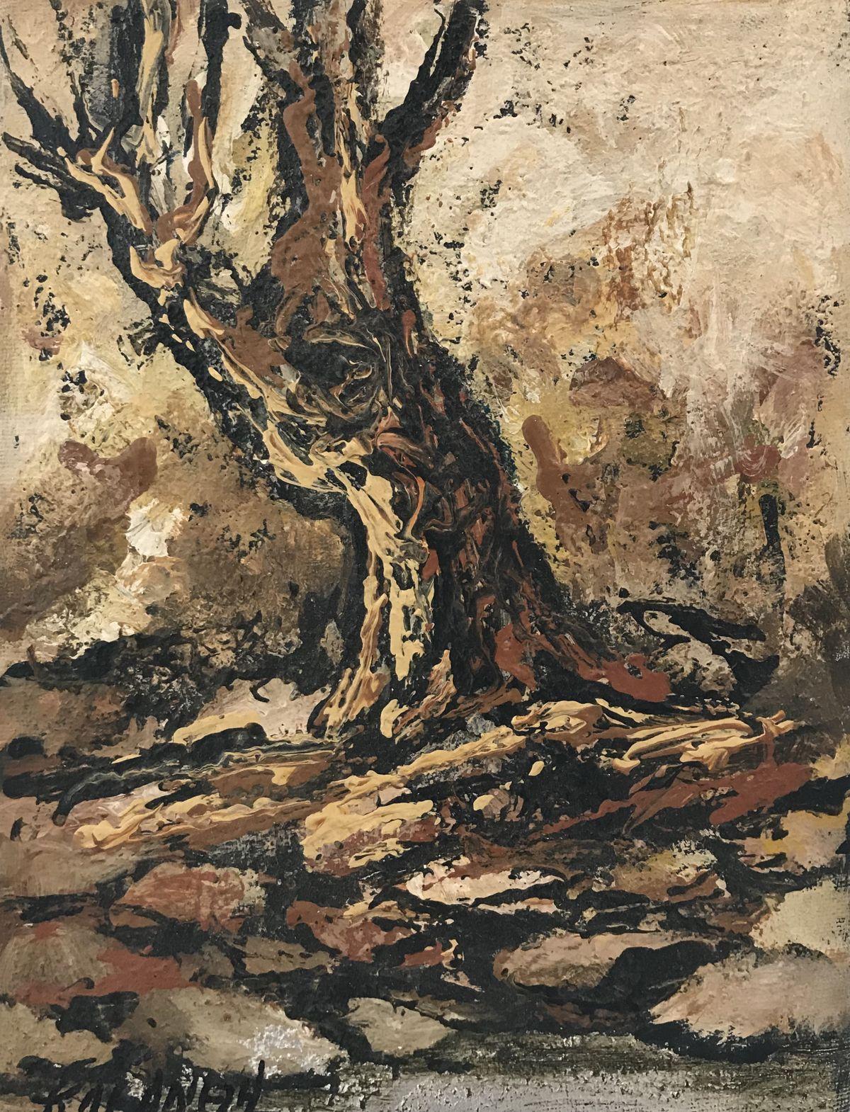 Κλεάνθη 18×24 εκ. Ακρυλικά σε καμβά Kleanthi 18×24 cm Acrylics on canvas (2)