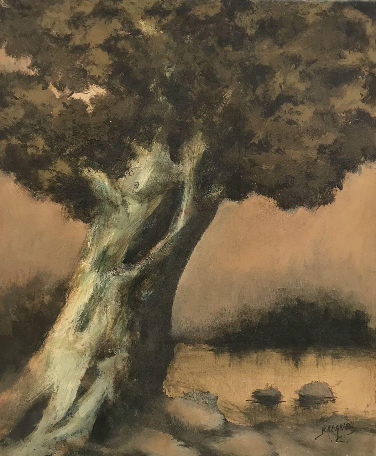 Κλεάνθη 37×40 εκ. Ακρυλικά σε καμβά Kleanthi 37×40 cm Acrylics on canvas