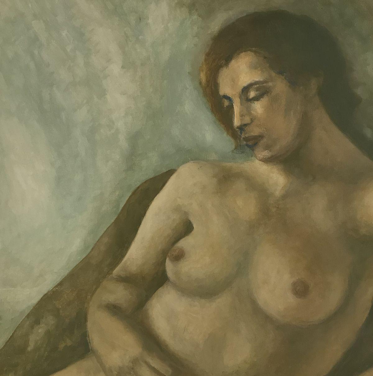 Κλεάνθη 43×43 εκ. Ακρυλικά σε καμβά Kleanthi 43×43 cm Acrylics on canvas