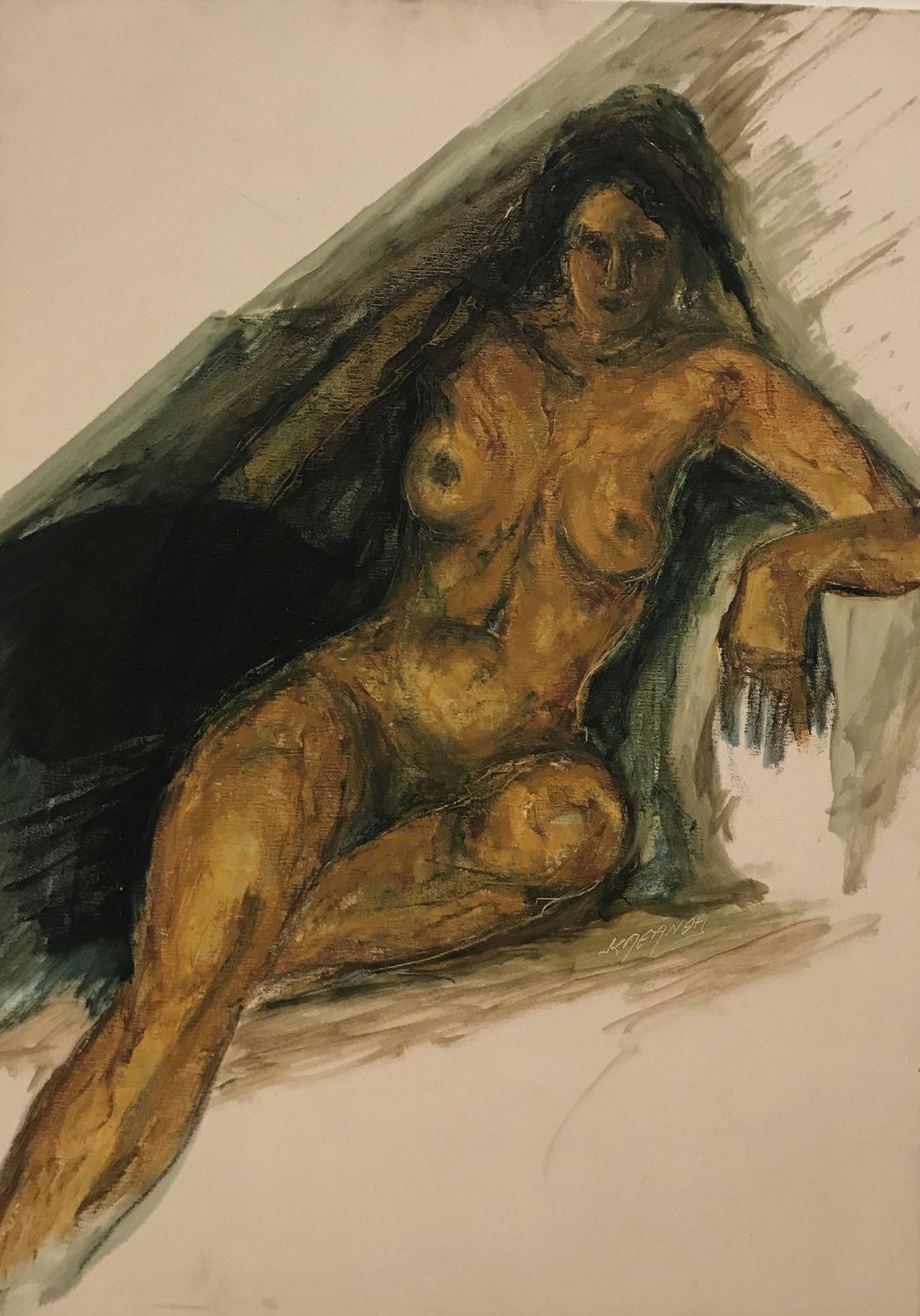 Κλεάνθη 50×70 εκ. Ακρυλικά σε καμβά Kleanthi 50×70 cm Acrylics on canvas