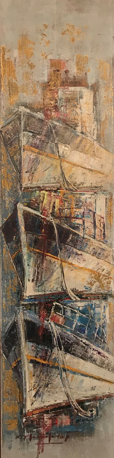 Κώστας Μανωλάτος 20×80 εκ. Ακρυλικά σε καμβά Costas Manolatos 20×80 cm, Acrylics on canvas