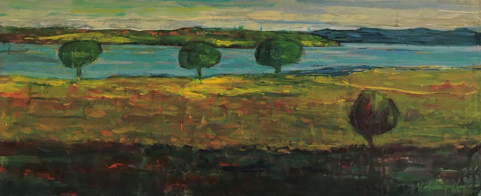 Λεωνίδας Καμπούρογλου 30×70 εκ. Ακρυλικά σε καμβά Leonidas Kambouroglou 30×70 cm Acrylics on canvas