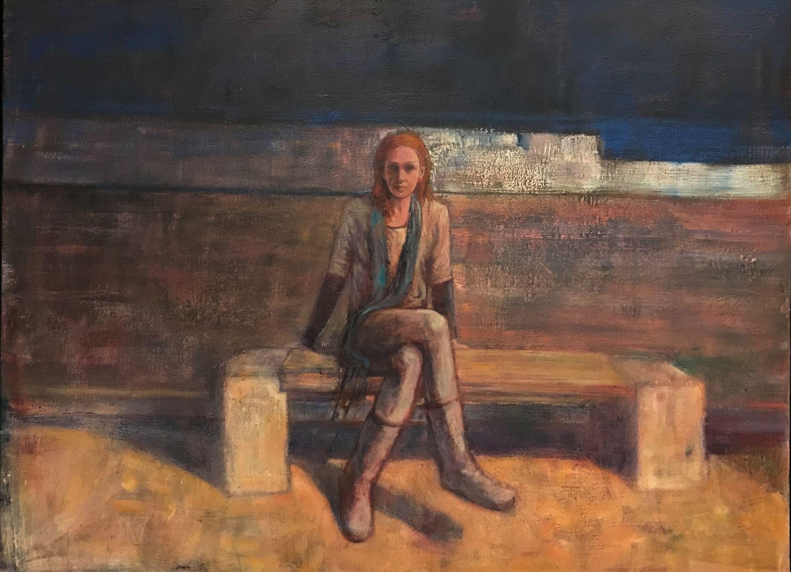Λεωνίδας Καμπούρογλου 90×120 εκ. Ακρυλικά σε καμβά Leonidas Kambouroglou 90×120 cm Acrylics on canvas