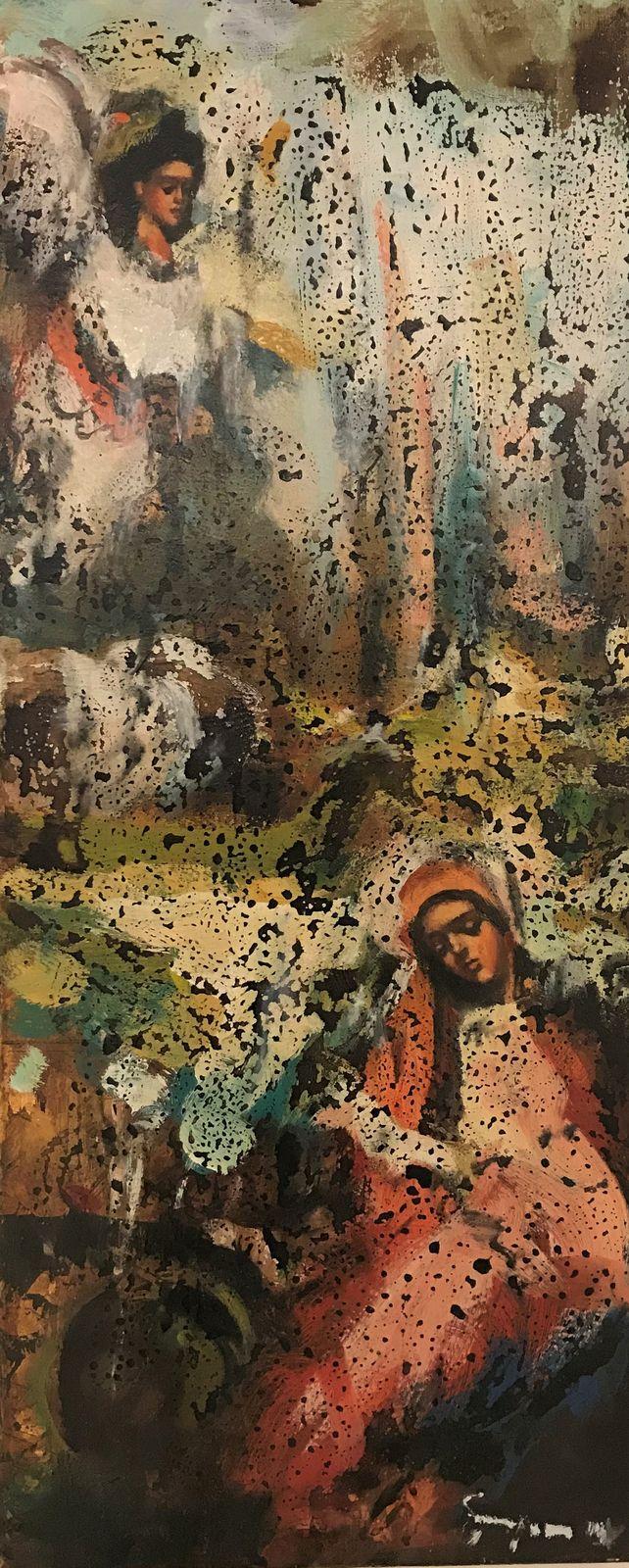 Μίλτος Γκατζώνης 30×70 εκ Λάδια σε καμβά Miltos Gatzonis 30×70 cm Oils on canvas