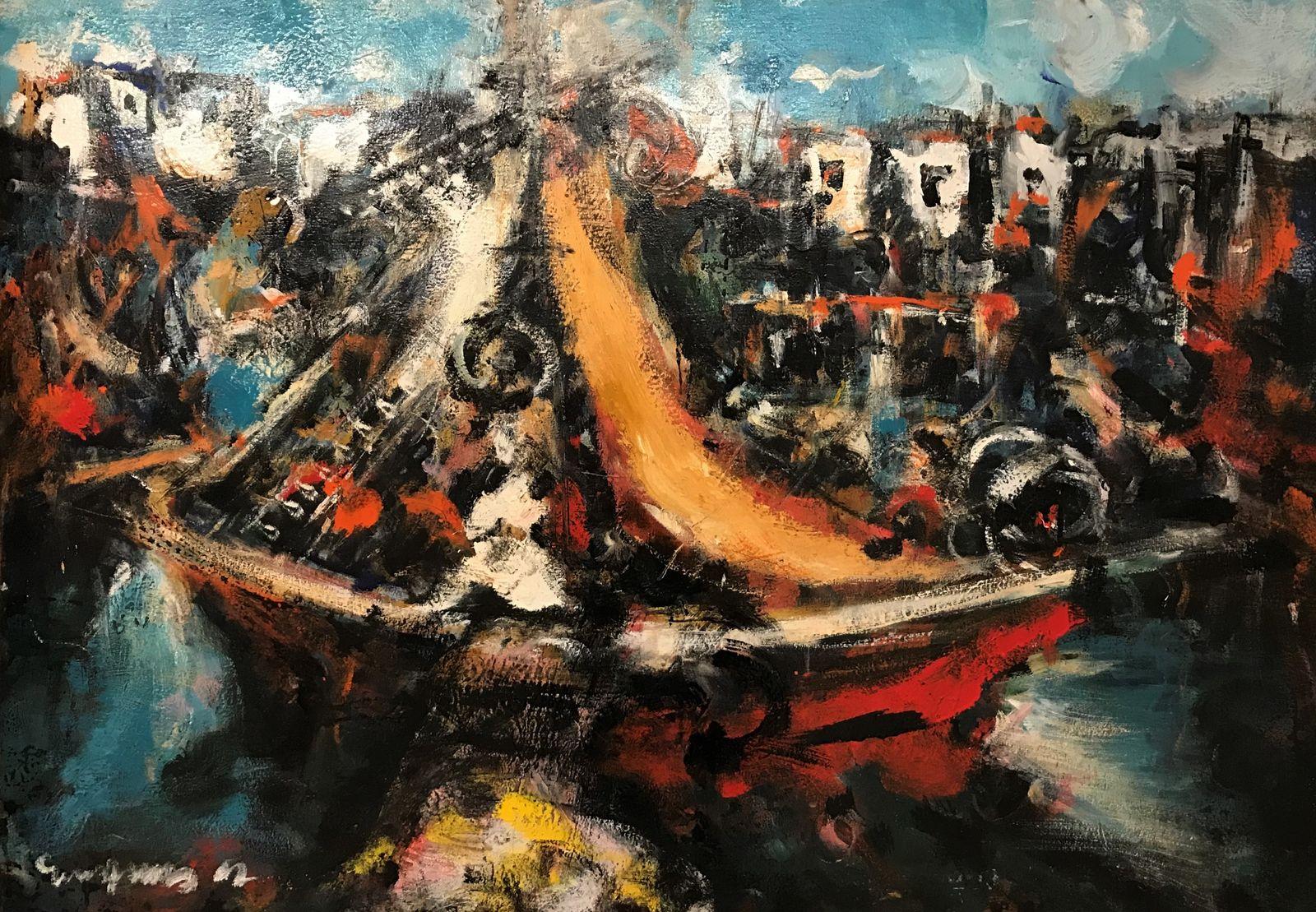 Μίλτος Γκατζώνης 70×100 εκ Λάδια σε καμβά Miltos Gatzonis 70×100 cm Oils on canvas
