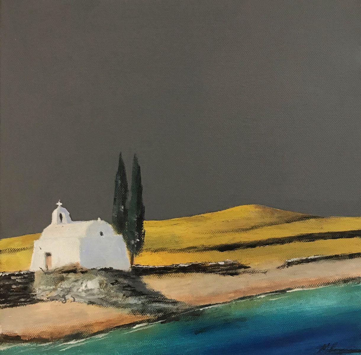 Μιχάλης Καλοκαιρινός 30×30 εκ Ακρυλικά σε καμβά Michael Kalokairinos 30×30 cm Acrylics on canvas
