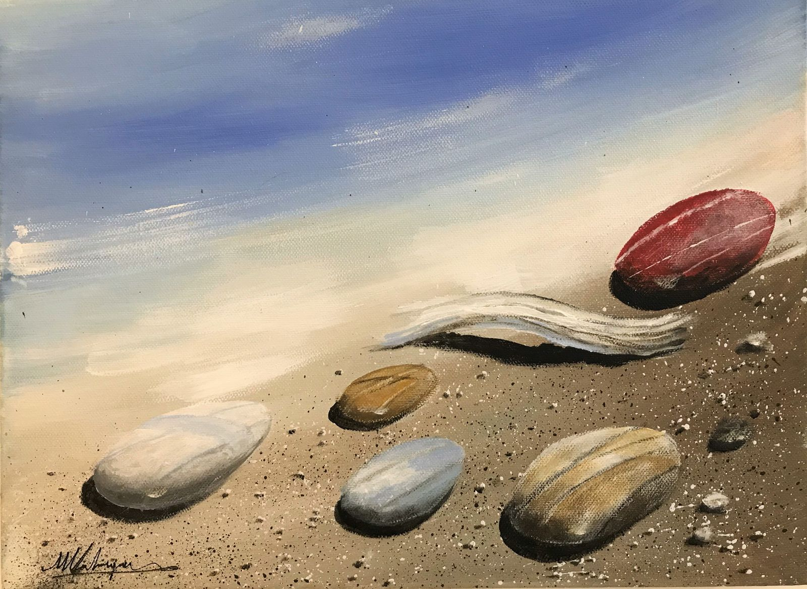 Μιχάλης Καλοκαιρινός 30×40 εκ Ακρυλικά σε καμβά Michael Kalokairinos 30×40 cm Acrylics on canvas