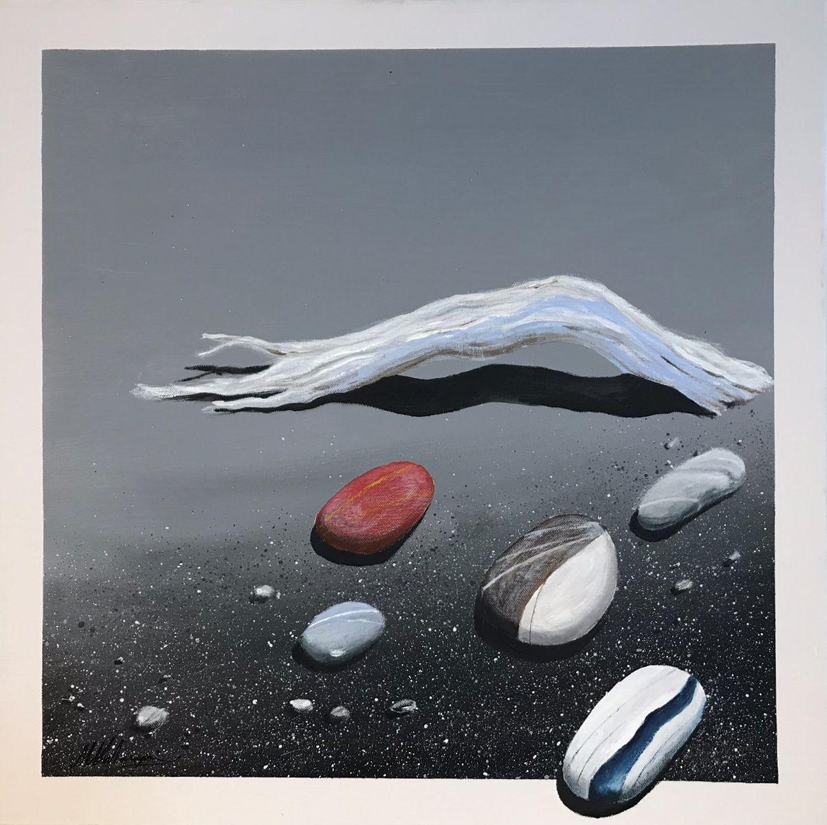 Μιχάλης Καλοκαιρινός 60×60 εκ Ακρυλικά σε καμβά Michael Kalokairinos 60×60 cm Acrylics on canvas