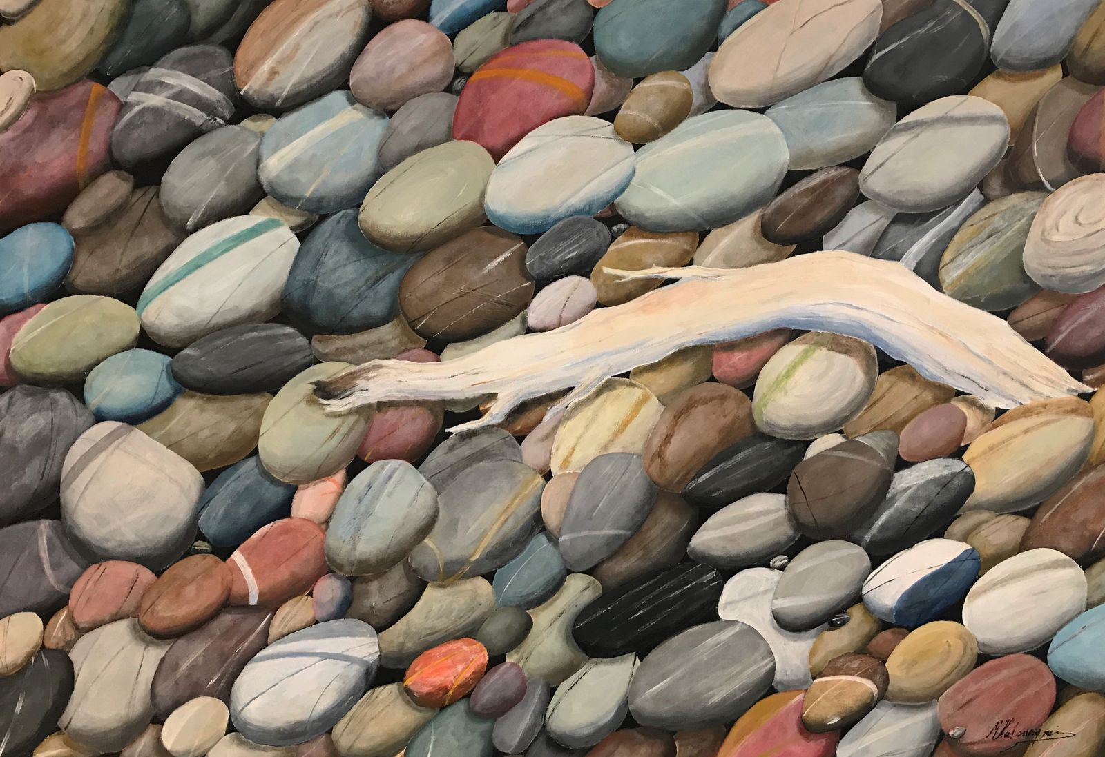 Μιχάλης Καλοκαιρινός 70×100 εκ Ακρυλικά σε καμβά Michael Kalokairinos 70×100 cm Acrylics on canvas