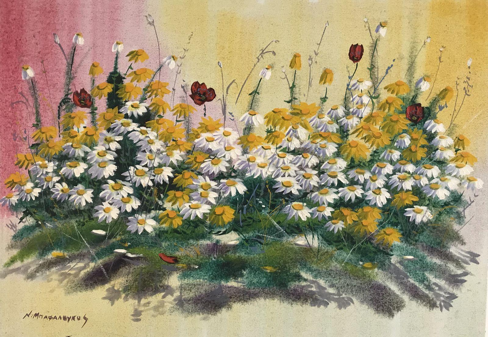 Νικόλας Μπαφαλούκος 50×70 εκ. Ακρυλικά σε καμβά Nicholas Bafaloukos 50×70 cm Acrylics on canvas (1)