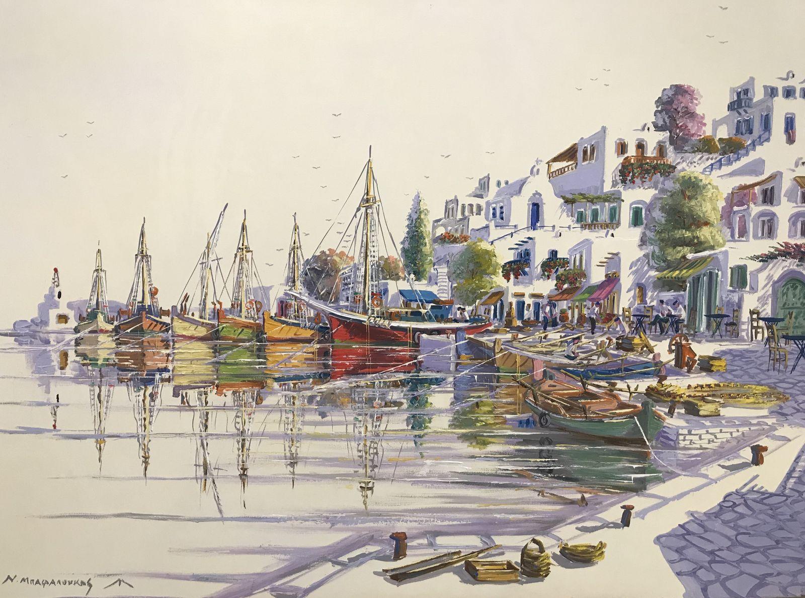 Νικόλας Μπαφαλούκος 70×100 εκ. Ακρυλικά σε καμβά Nicholas Bafaloukos 70×100 cm Acrylics on canvas