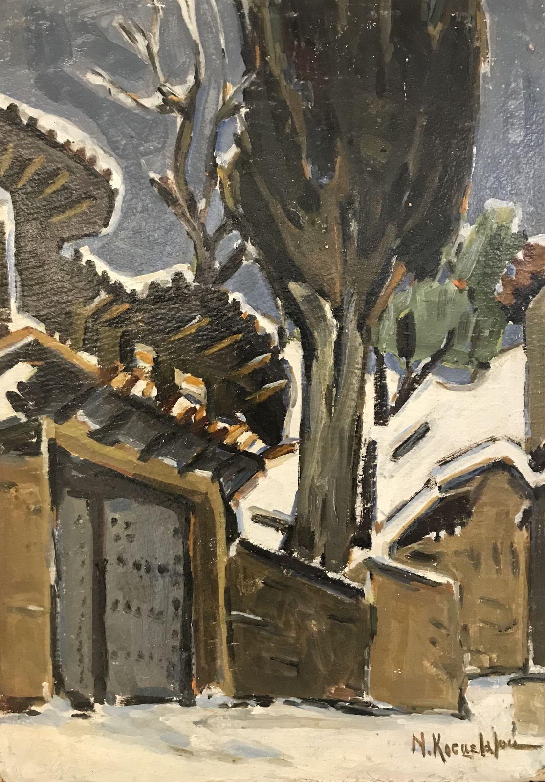 Νινέττα Κοσμετάτου 35×50 εκ. Λάδια σε χαρτόνι Ninetta Kosmetatou 35×50 cm Oils on cardboard (3)