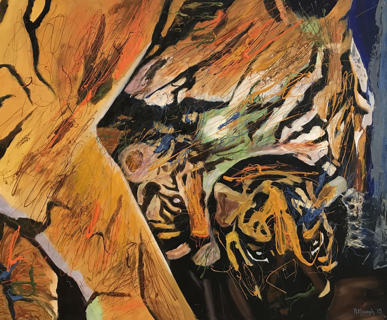 Πένη Μαναβή 90×110 εκ. Μικτή τεχνική σε καμβά Penny Manavi 90×110 cm Mixed media on canvas (1)