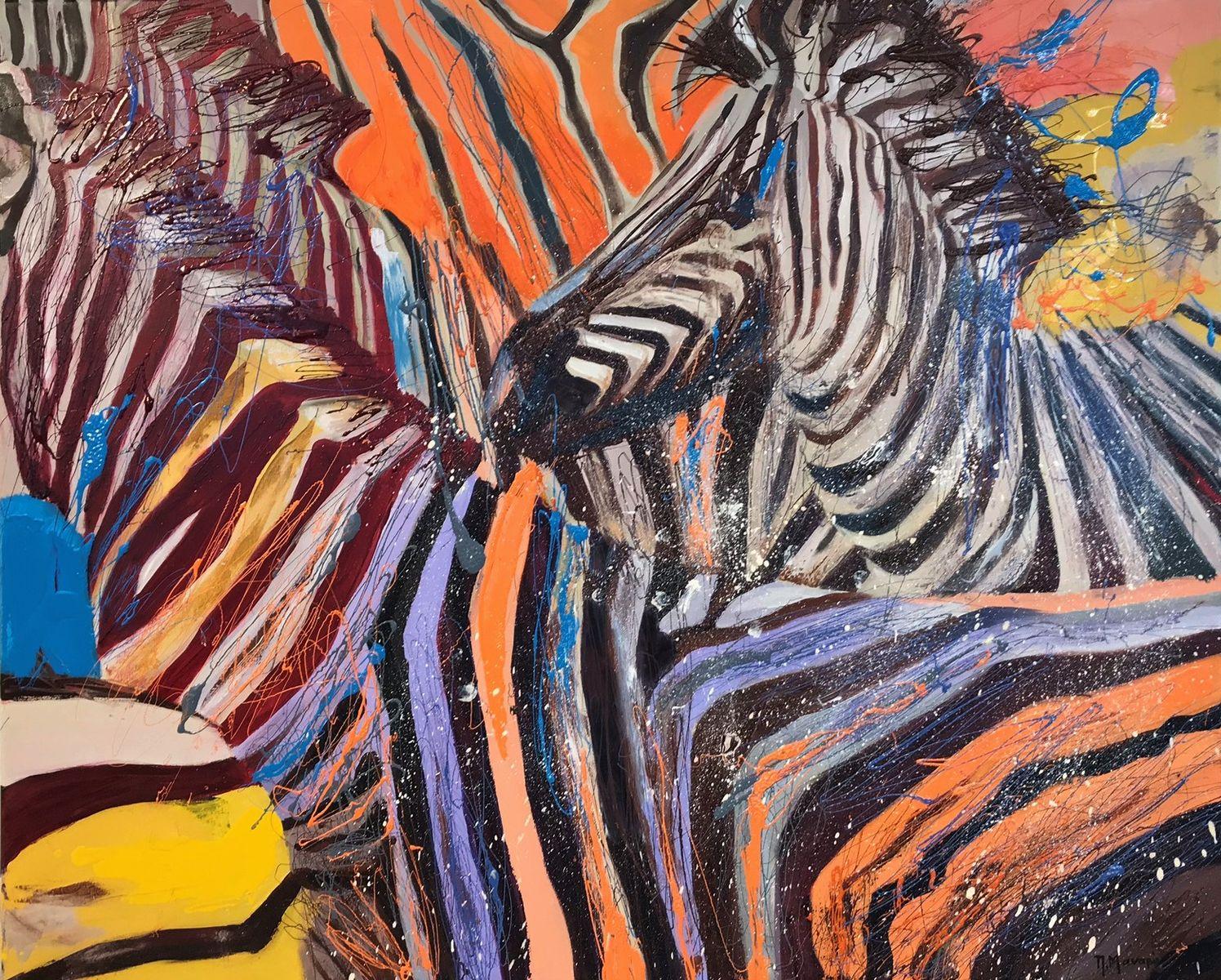 Πένη Μαναβή 90×110 εκ. Μικτή τεχνική σε καμβά Penny Manavi 90×110 cm Mixed media on canvas (2)