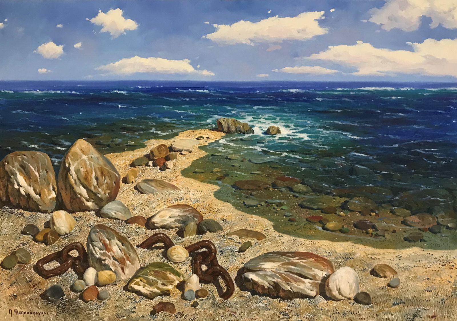 Παύλος Παπαδόπουλος 70×100 εκ Λάδια σε καμβά Pavlos Papadopoulos 70×100 cm Oils on canvas