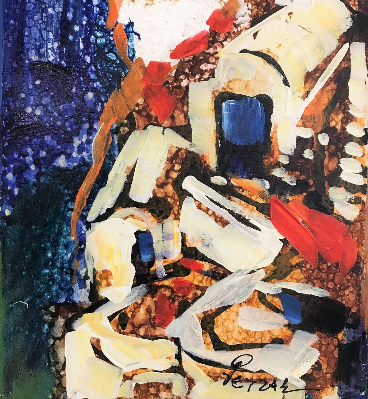 Ρέντης Ρετζάς 30×33 εκ. Ακρυλικά σε καμβά Redis Retzas 30×33 cm Acrylics on canvas
