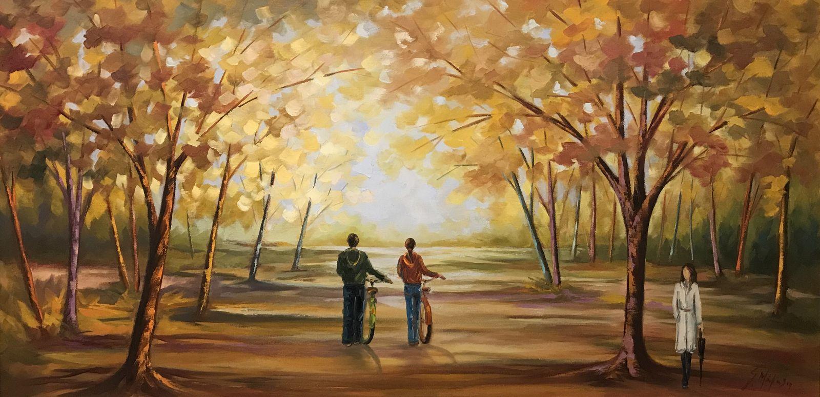 Σοφία Παπαγεωργίου 50×100 εκ. Λάδια σε καμβά Sofia Papageorgiou 50×100 cm Oils on canvas