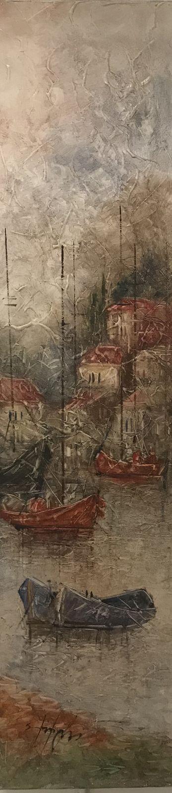 Σταματίνα Μαρνέζου 20×80 Ακρυλικά σε καμβά Stamatina Marnezou 20×80 Acrylics on canvas (2)