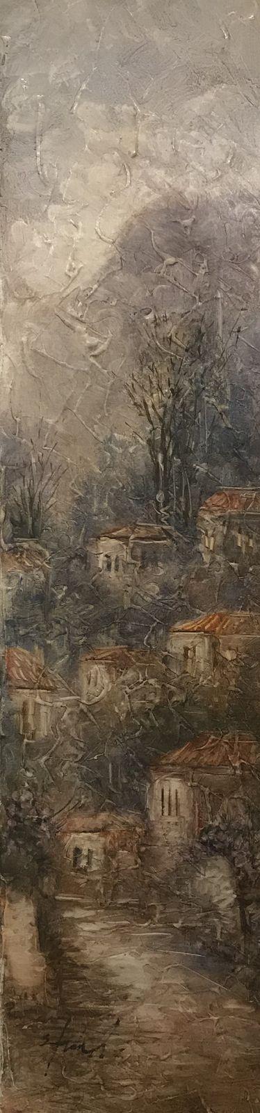 Σταματίνα Μαρνέζου 20×80 Ακρυλικά σε καμβά Stamatina Marnezou 20×80 Acrylics on canvas
