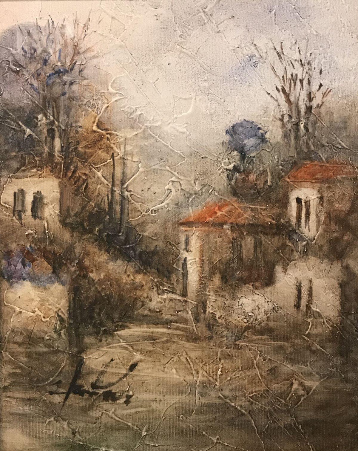 Σταματίνα Μαρνέζου 24×30 Ακρυλικά σε καμβά Stamatina Marnezou 24×30 Acrylics on canvas
