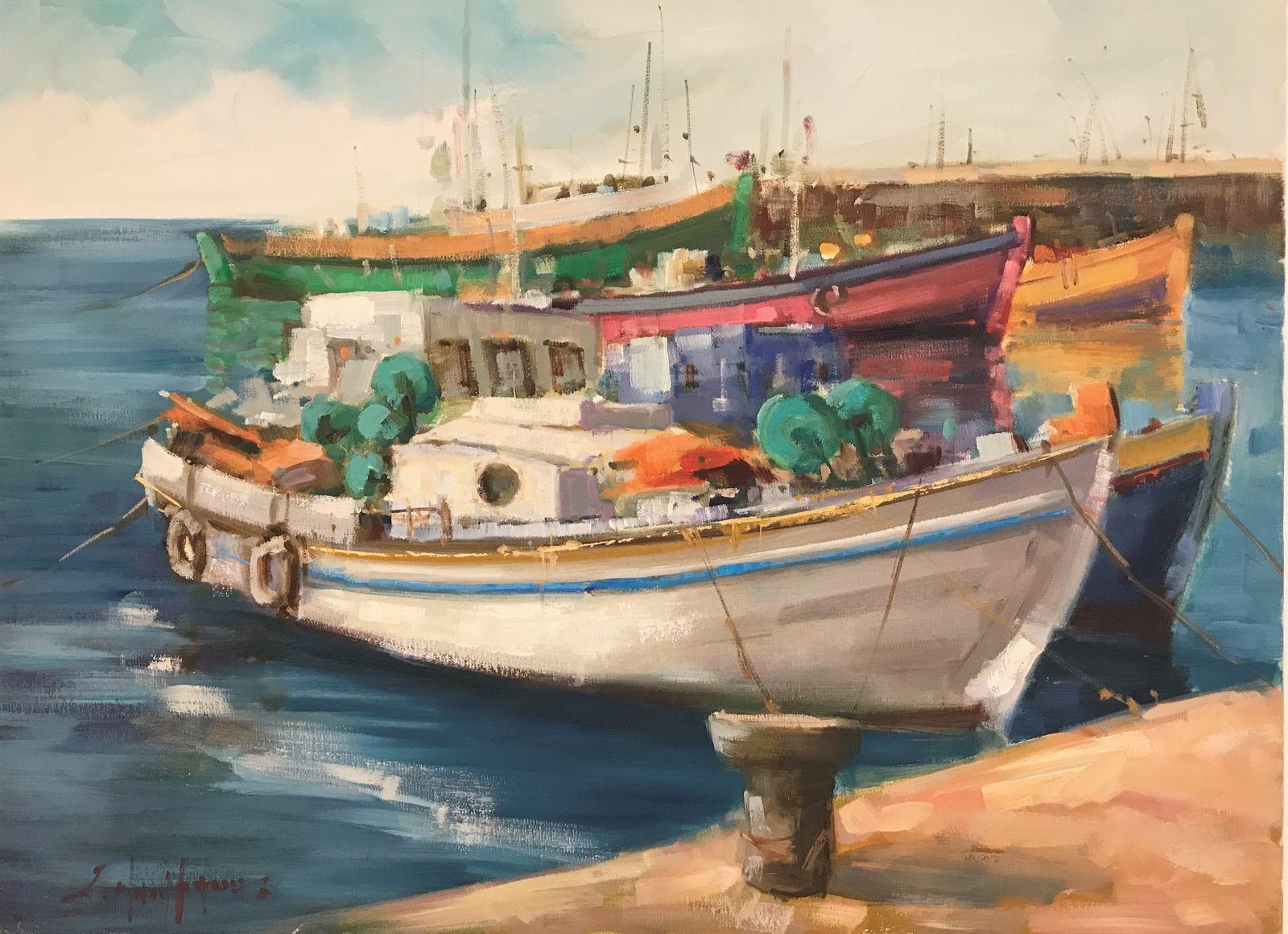 Σταύρος Μπουράνης 60×80 εκ Ακρυλικά σε καμβά Stavros Bouranis 60×80 cm Acrylics on canvas