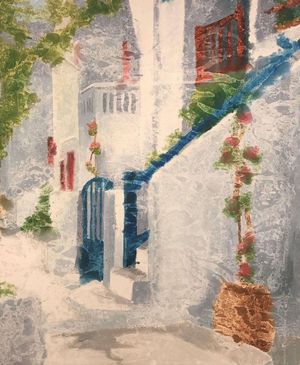 Τίνα Μάσχα 80×100 εκ. Ακρυλικα σε καμβά Tina Mascha 80×100 cm Acrylics on canvas