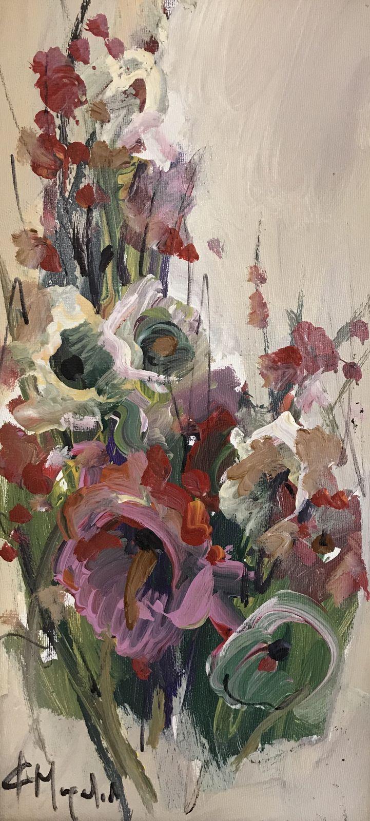 Φώφη Μουρατίδου 20×40 εκ. Ακρυλικά σε καμβά Fofi Mouratidou 20×40 cm Acrylics on canvas