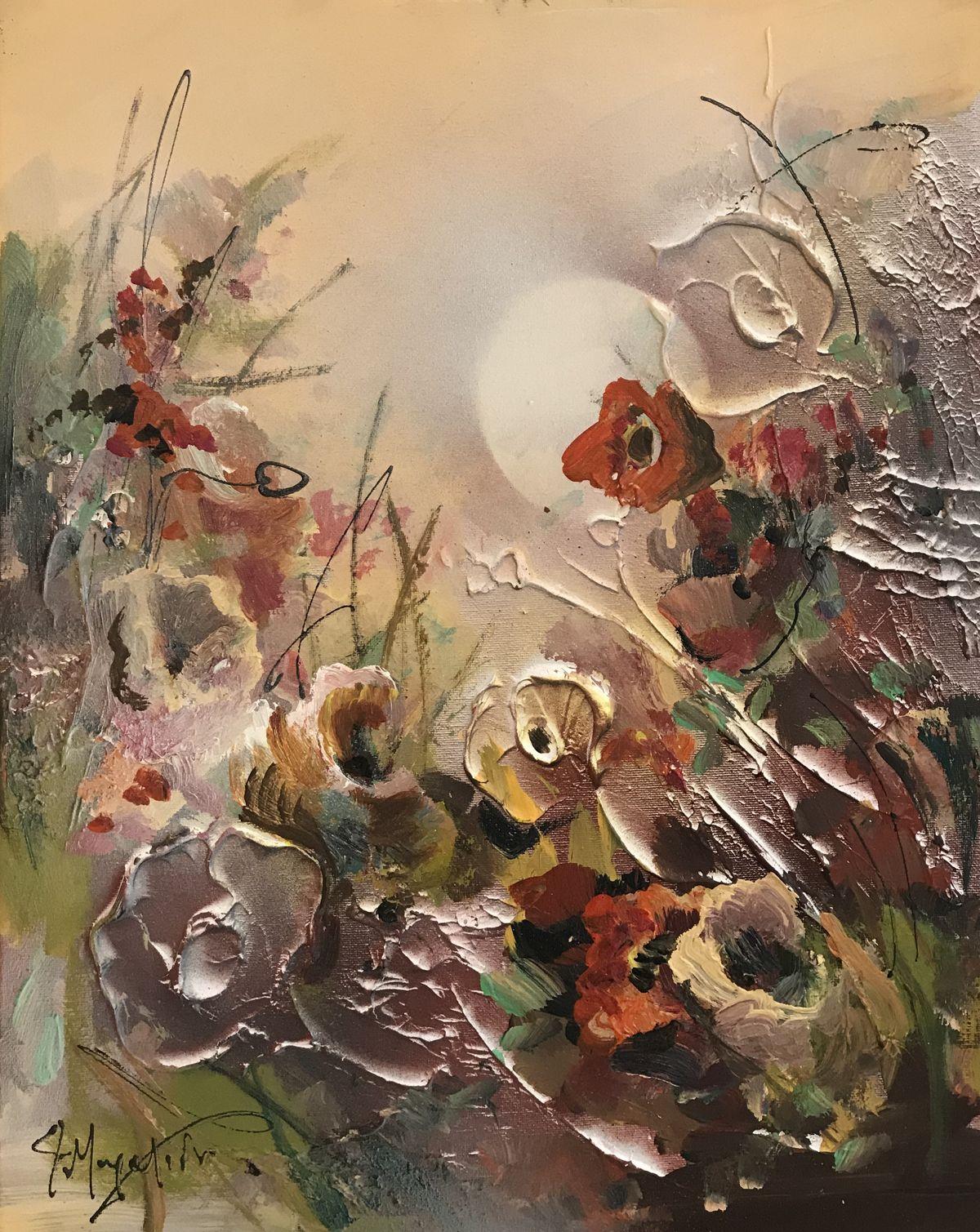 Φώφη Μουρατίδου 40×50 εκ. Ακρυλικά σε καμβά Fofi Mouratidou 40×50 cm Acrylics on canvas