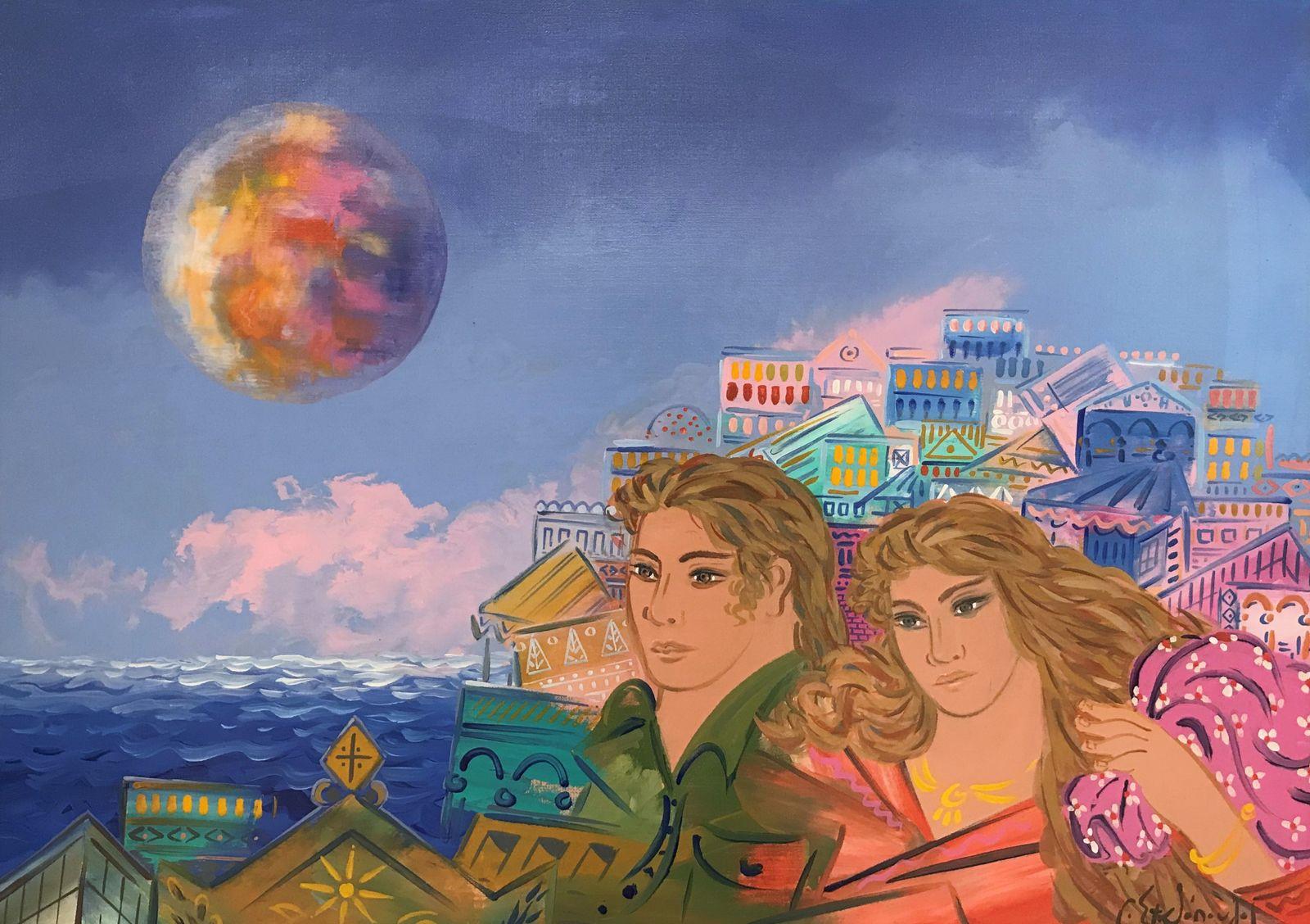 Γιώργος Σταθόπουλος 70×100 εκ. Ακρυλικά σε καμβά Giorgos Stathopoulos 70×100 cm Acrylics on canvas