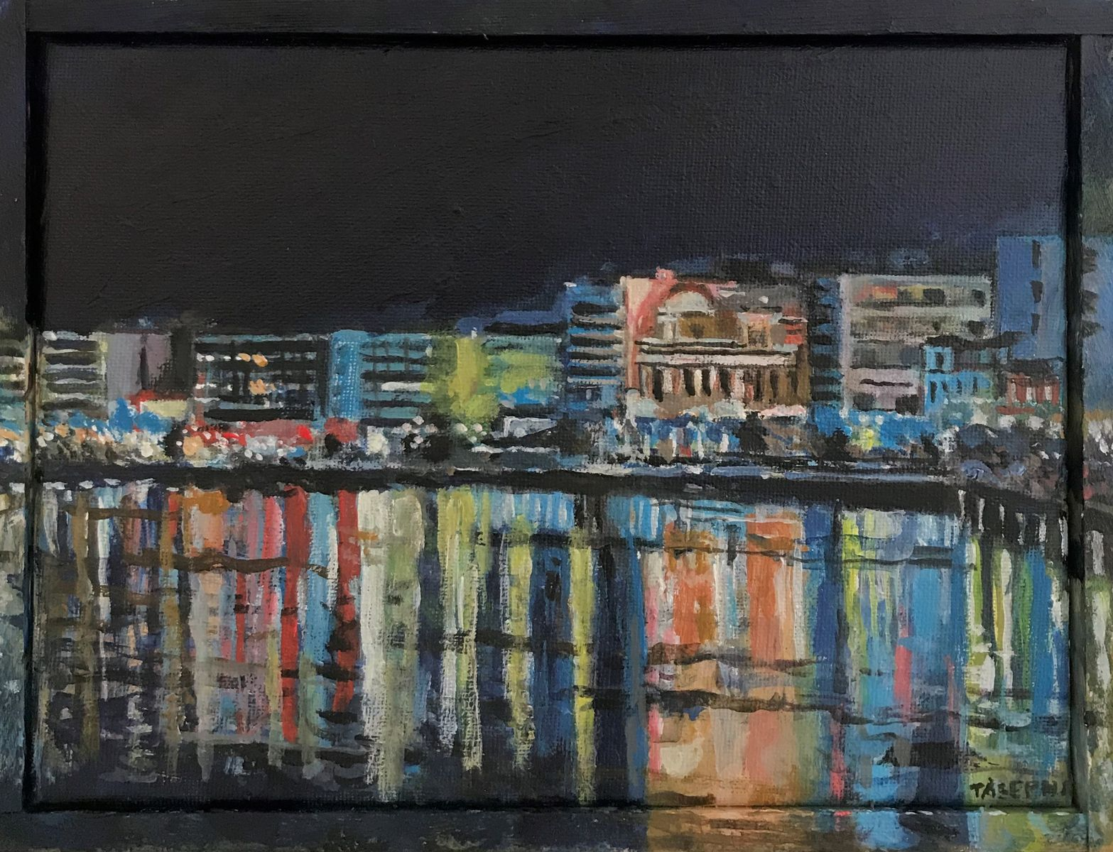 Γιώργος Τάξερης 18×24 εκ. Ακρυλικά σε καμβά Giorgos Taxeris 18×24 cm Acrylics on canvas