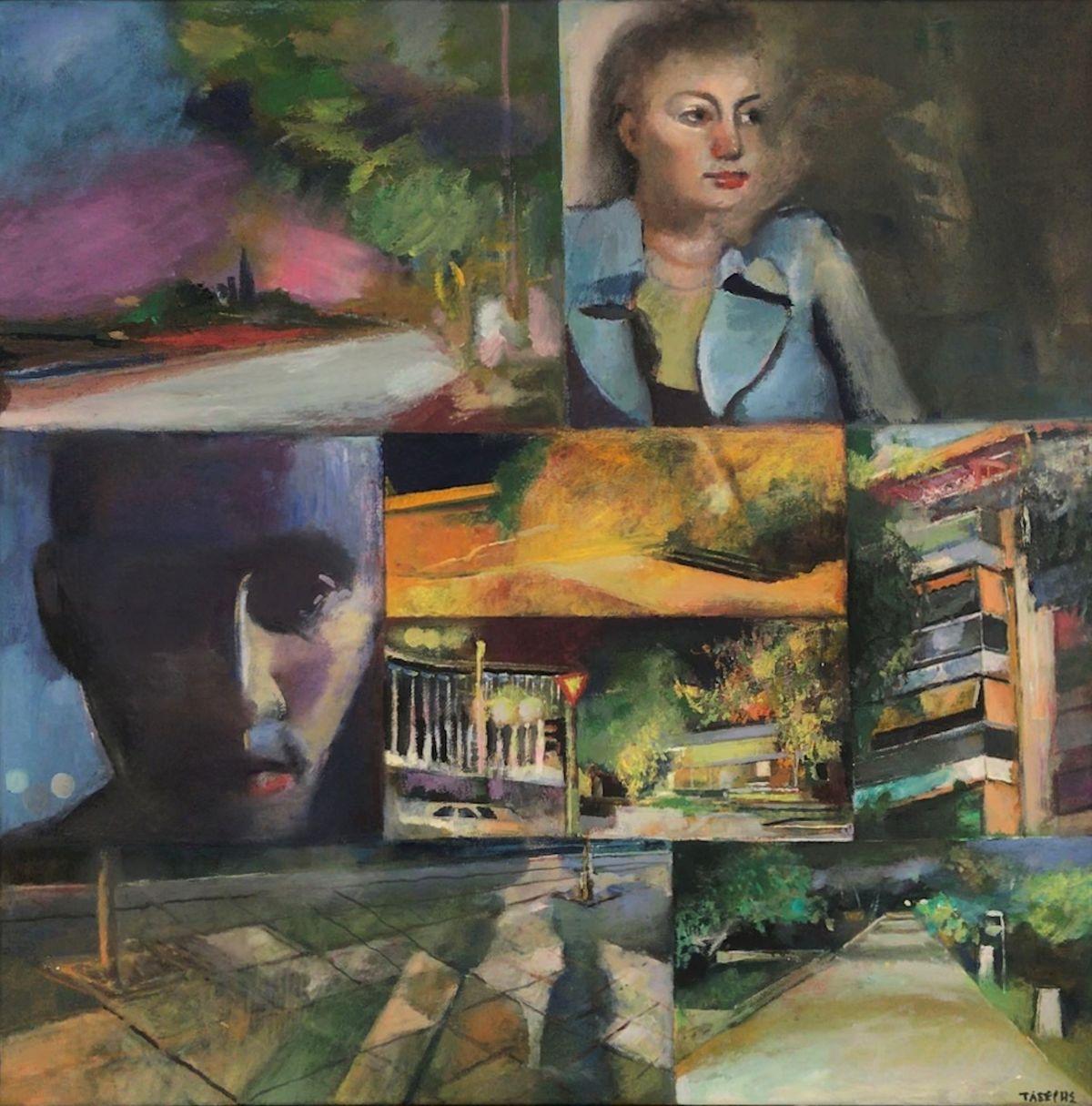 Γιώργος Τάξερης 50×50 εκ. Ακρυλικά σε καμβά Giorgos Taxeris 50×50 cm Acrylics on canvas (1)
